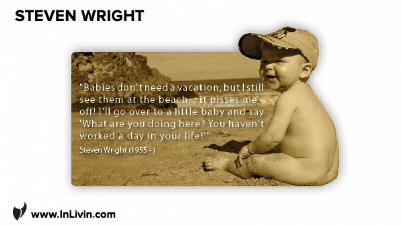 A Well Earned Holiday - Steven Wright On Vacations and Babies